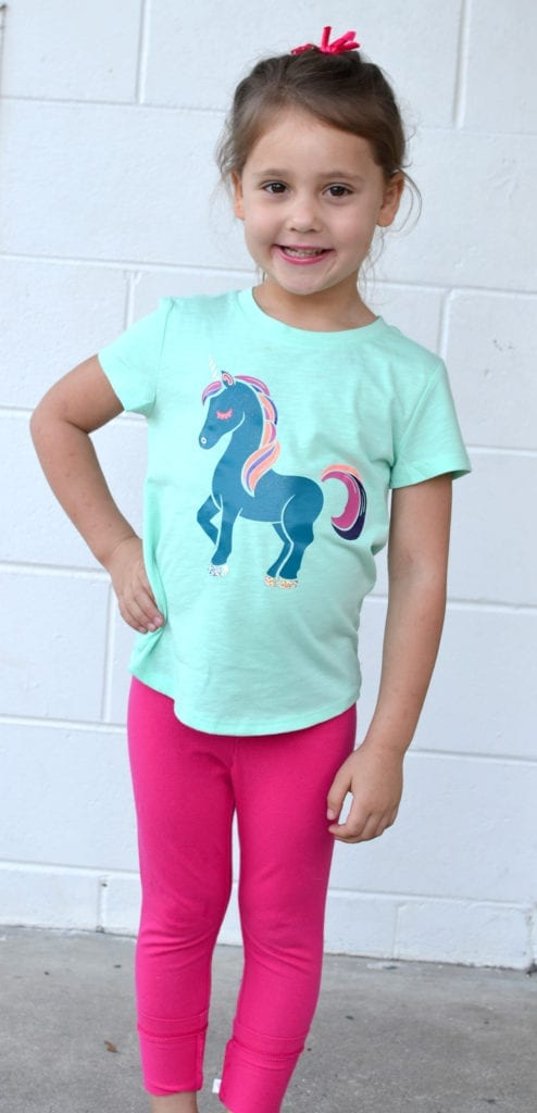 DIY Unicorn Shirt - A Unicorn shirt made with HTV and a Silhouette or Cricut.