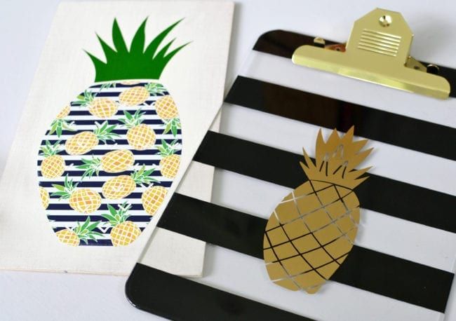 Pineapple Free Cut Files - Sunny Tropics Adhesive Vinyl Pack - SVG, DXF and PNG
