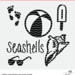 Summer Cut Files - Free Cut File for Summer fun in the Sun. Use the free cut files with Cricut and Silhouette machines. DXF, PNG and SVG files.