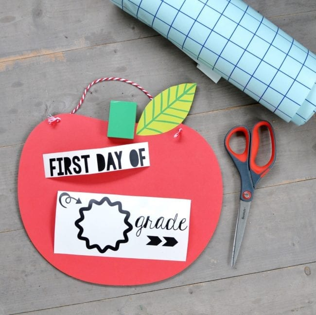 DIY Back to School Chalkboard - First Day of School Chalkboard with Cut Files for Silhouette and Cricut