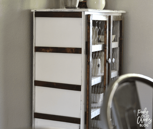 DIY Pie Safe - A dresser turned into a pie safe. Farmhouse style furniture.