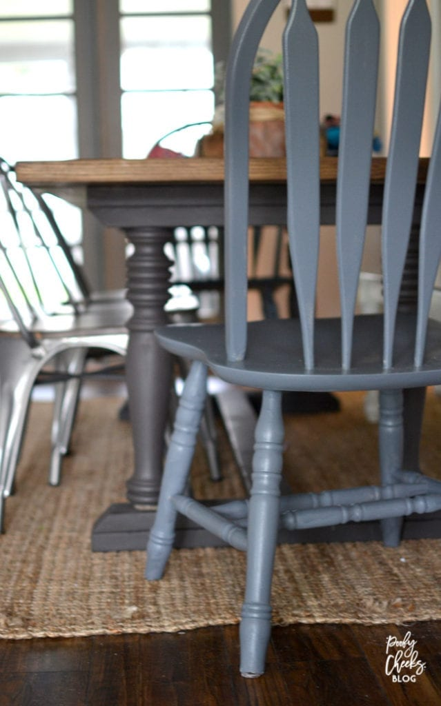 Painted Chair by reNEWed - Spindle back chair redo.