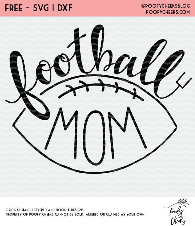 Football Mom Cut File - Cut file for Silhouette and Cricut cutting machines.