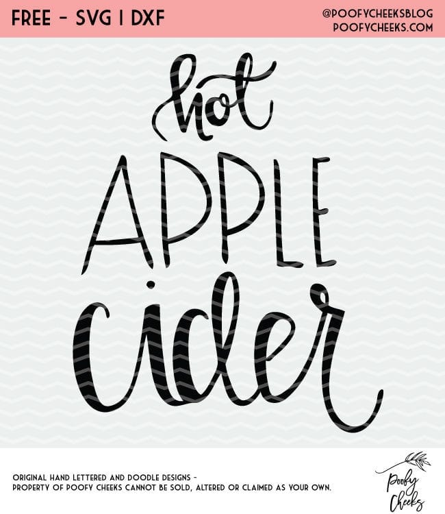 Hot Apple Cider Free Cut File for Silhouette and Cricut. PoofyCheeks.com #freecutfile #cutfile