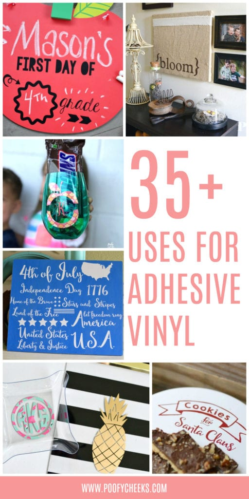 Over 35 surfaces that you can apply adhesive vinyl to. Ideas about how to use adhesive vinyl.