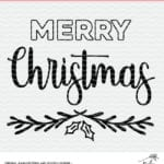 Flash Freebie Merry Christmas Cut File - SVG, DXF and PNG files for Silhouette and Cricut cutting machines.
