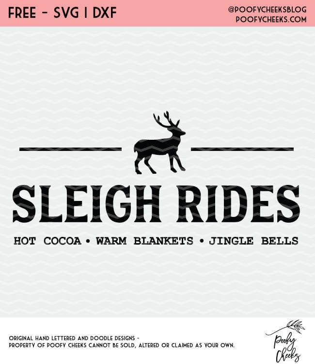 Sleigh Rides flash freebie cut file. Christmas cut file for Cricut and Silhouette.