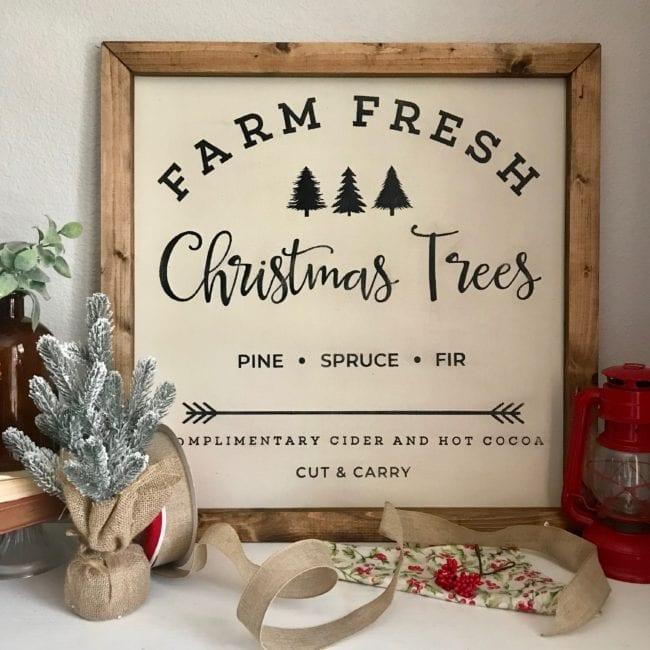 Farm Fresh Christmas Tree Cut File.