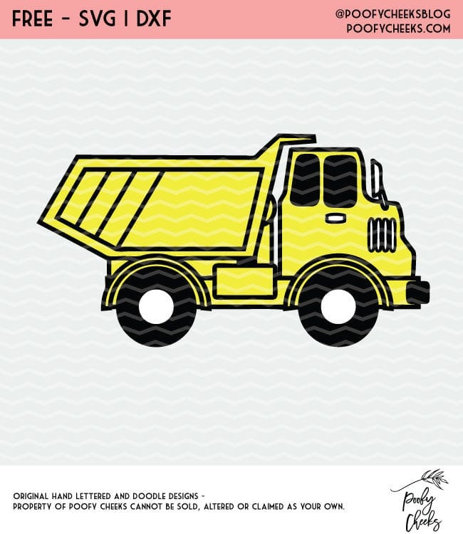Dump Truck cut file for use with Silhouette and Cricut cut files.