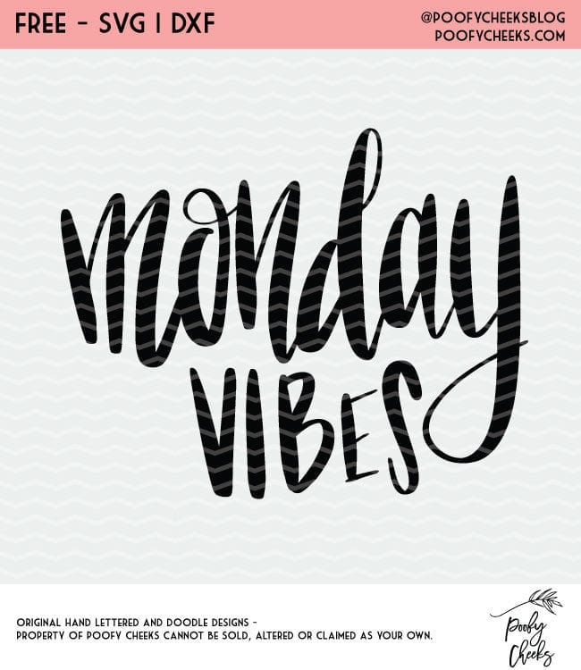 This site has so many free cut files. Monday Vibes free cut file for Silhouette and Cricut cutting machines. SVG, PNG and DXF files.