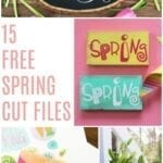 15 Free Spring Cut Files for Silhouette and Cricut cutting machines.