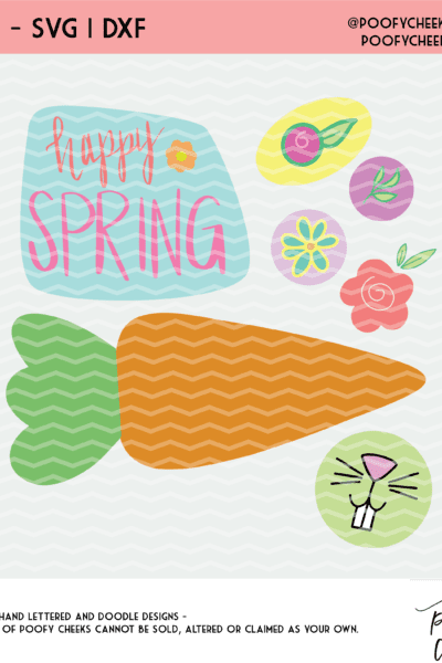 Happy Spring Cut Files for Silhouette and Cricut – DXF, SVG, PNG