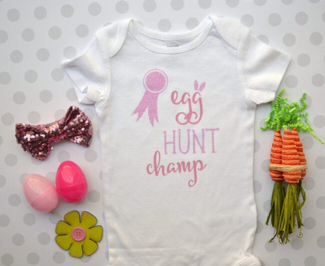 Egg Hunt Champ Easter cut file. Flash freebie cut file free for a limited time. Cut file for Silhouette and Cricut cutting machines.