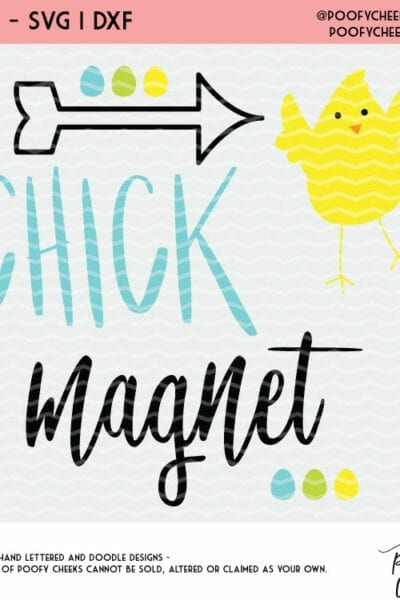 Easter Chick Magnet Cut File – SVG, DXF, PNG for Silhouette and Cricut