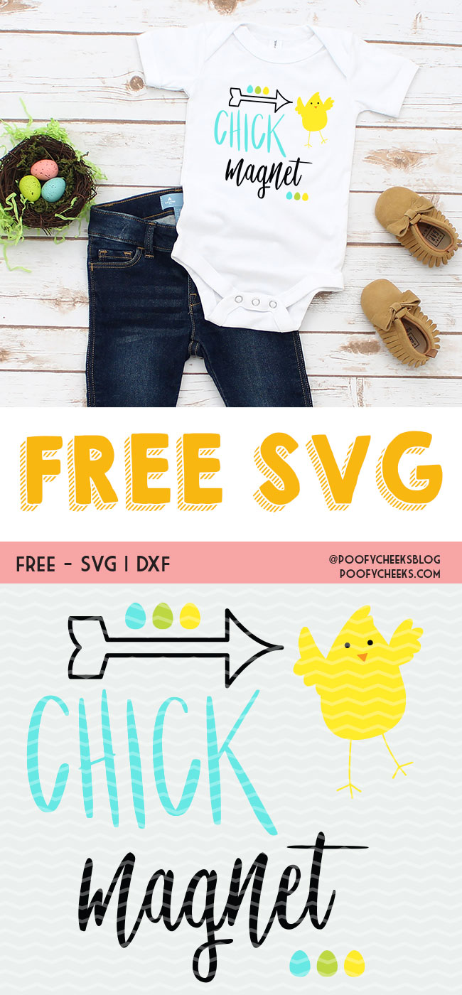 Chick Magnet cut file. Easter cut file for Silhouette and Cricut. SVG, DXF and PNG