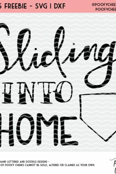Sliding Into Home Cut File – Baseball Softball Flash Freebie Design