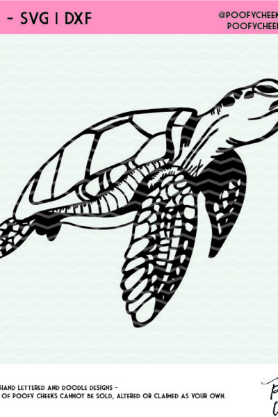 Sea Turtle SVG, DXF and PNG for Silhouette and Cricut