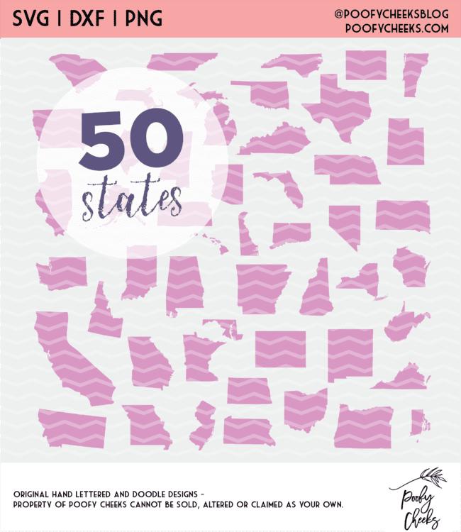 50 state cut file bundle