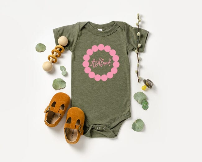 Monogram Cut File on Onesie