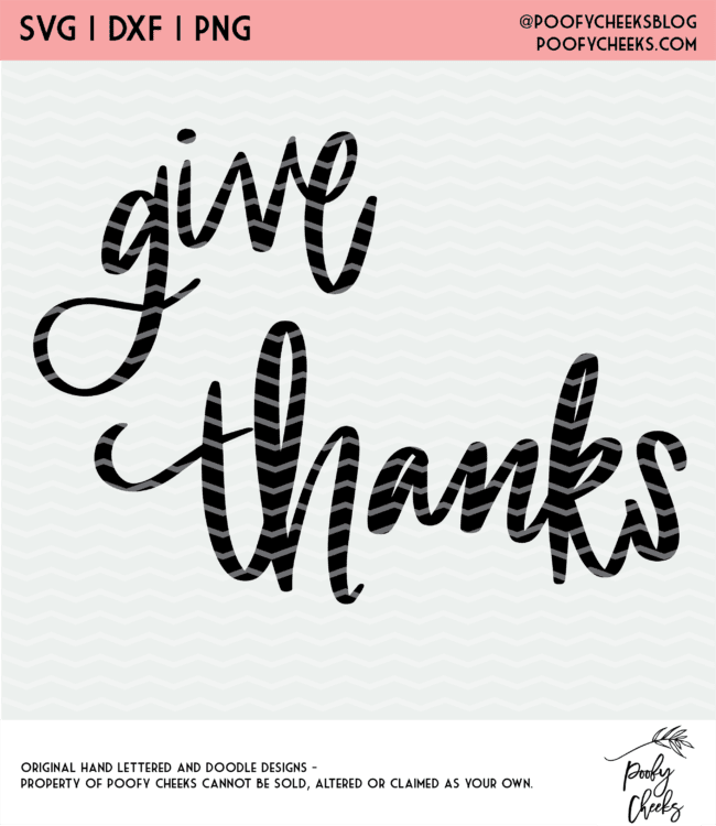 Give Thanks cut file design.