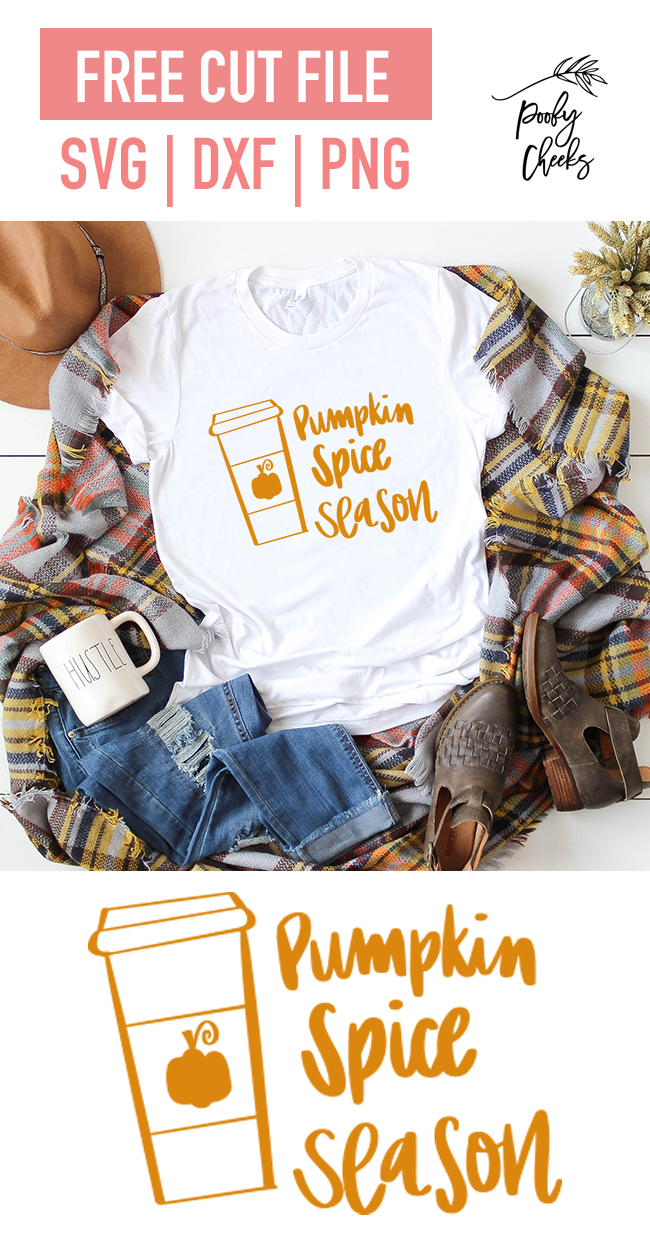 pumpkin spice season cut file