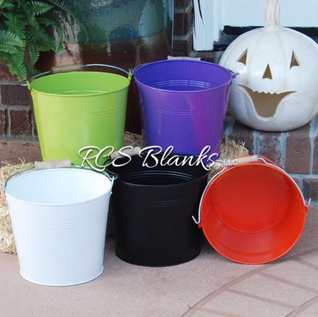 trick or treat enamel buckets