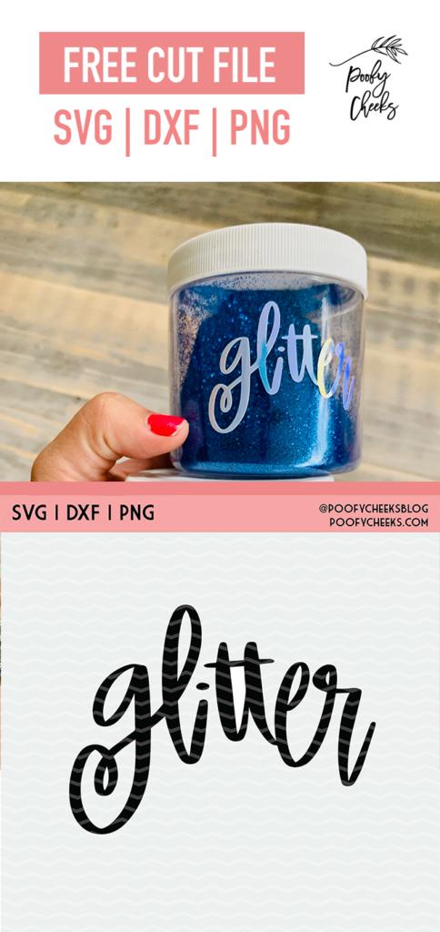 Glitter cut file