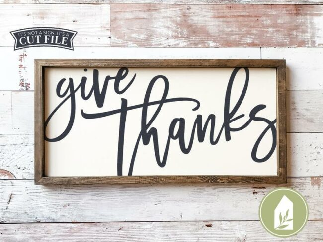 15 Thanksgiving Cut Files from around the web. Use with Cricut and/or Silhouette machines.