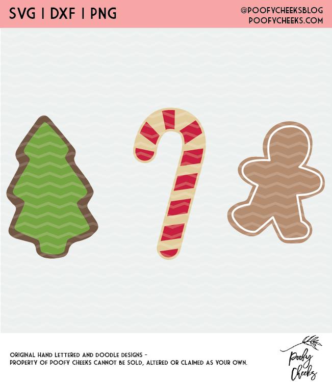 christmas cookie digital design