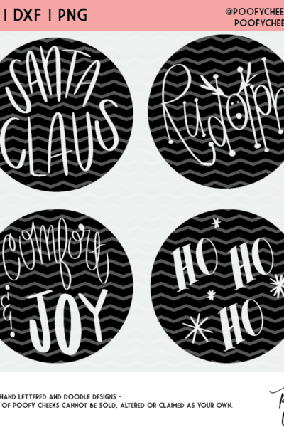 Christmas Word Cut Files – SVG, DXF and PNG