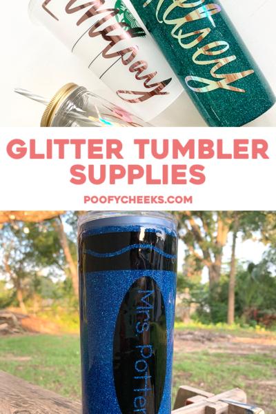Epoxy Glitter Tumbler Supplies