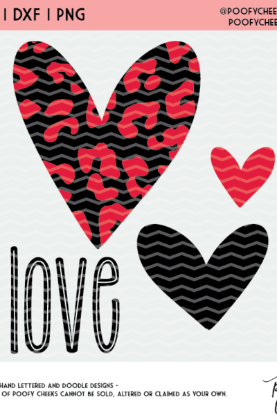 Love and Hearts Cut File- Valentine's Day Cut File for Silhouette and Cricut