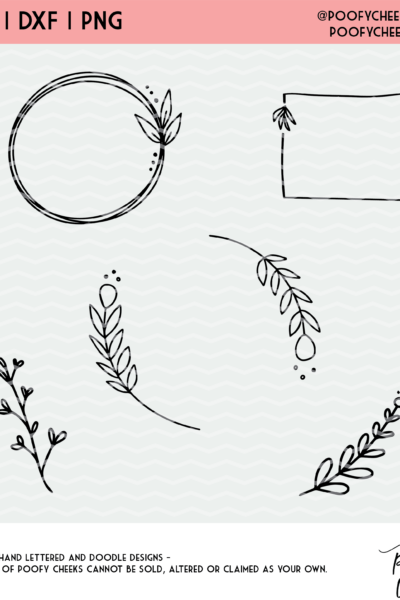 Floral Accents Cut File – SVG, DXF and PNG