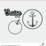 Cruise cut files - digital designs in SVG, DXF and PNG format.