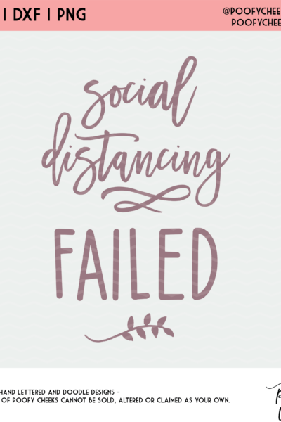 Social Distancing Baby Cut File – Baby Annoucement SVG, DXF and PNG