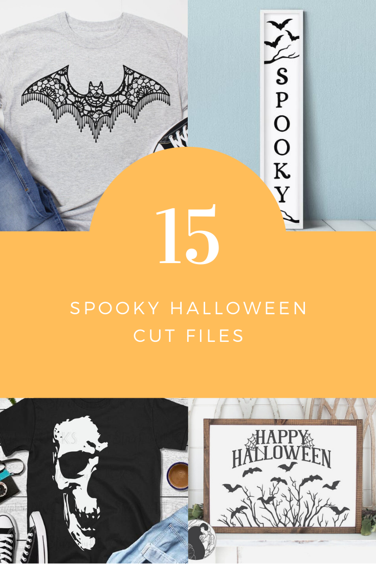 15 Spooky Cut Files for Halloween. Cut files for Silhouette and Cricut.