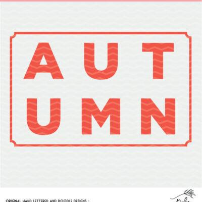 Autumn Cut File - Digital Design