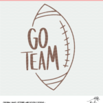 Go Team Football Cut File