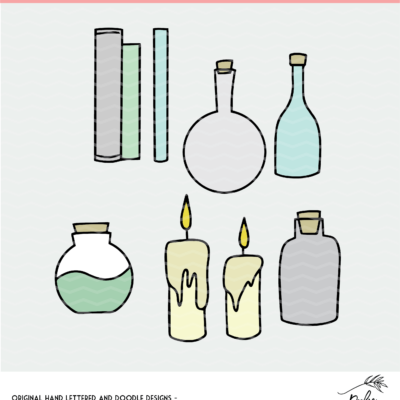 Potions Cut File - SVG, DXF and PNG