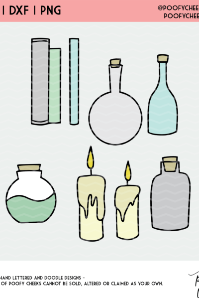 Halloween Potions Cut File – SVG, DXF and PNG for Cricut and Silhouette