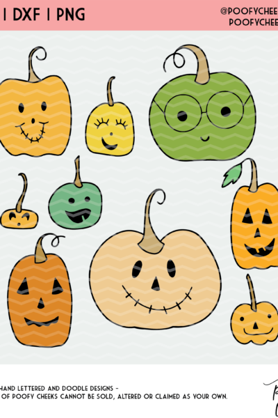 Pumpkin Crew Cut File – SVG, DXF, PNG for Silhouette and Cricut