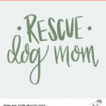 Rescue Dog Cut File - Digital Download