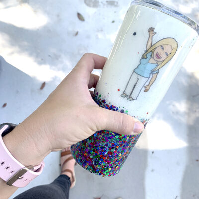 Waterslide Paper Decal on Epoxy Tumbler