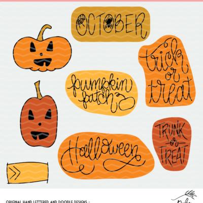 Halloween Planner Stickers - Digital Design