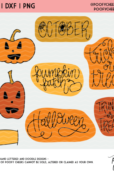 October Halloween Planner Stickers – SVG, DXF, PNG – Silhouette Cameo and Cricut