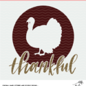 Thankful Thanksgiving Cut File Digital Design