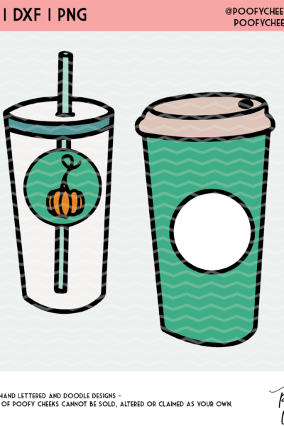 Coffee Cup PNG, SVG, DXF – Cut Files for Cricut and Silhouette