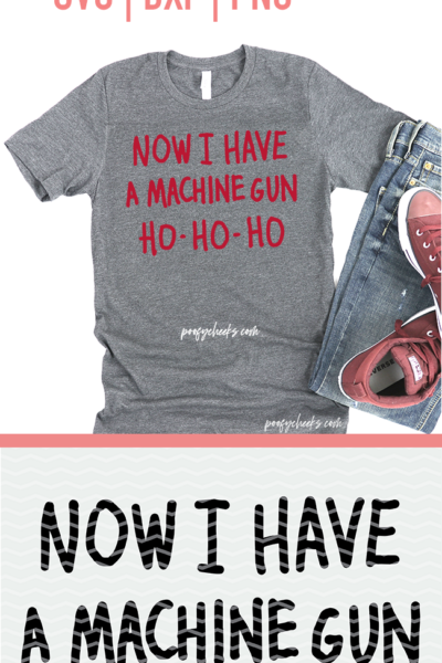 Die Hard Inspired Cut File – Silhouette and Cricut – SVG, PNG, DXF