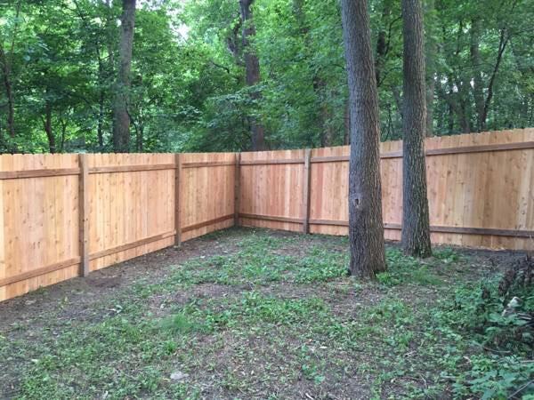 boulevard fence wood fence
