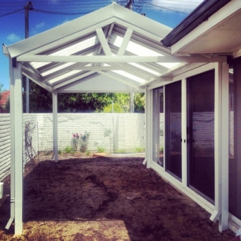 Custom designed L shape gable